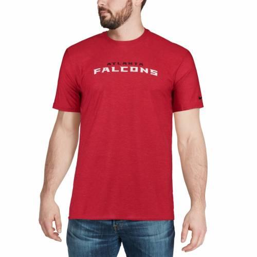 ナイキ NIKE アトランタ ファルコンズ サイドライン Tシャツ 赤 レッド メンズファッション トップス カットソー メンズ 【 Atlanta Falcons Sideline Player T-shirt - Red 】 Red