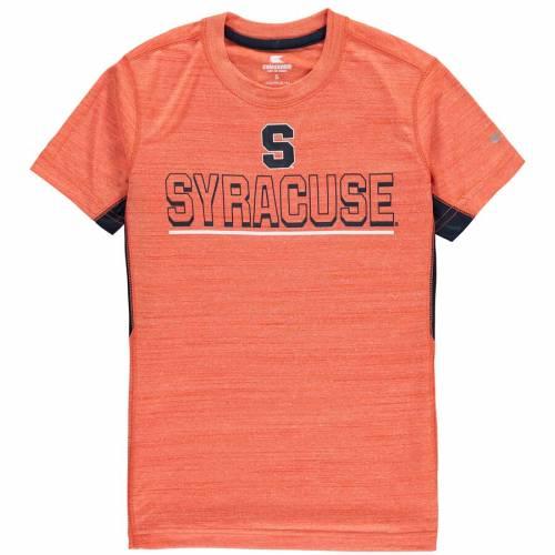 COLOSSEUM シラキュース 橙 オレンジ 子供用 Tシャツ キッズ ベビー マタニティ トップス ジュニア 【 Syracuse Orange Youth Over The Fence Poly T-shirt - Orange 】 Orange