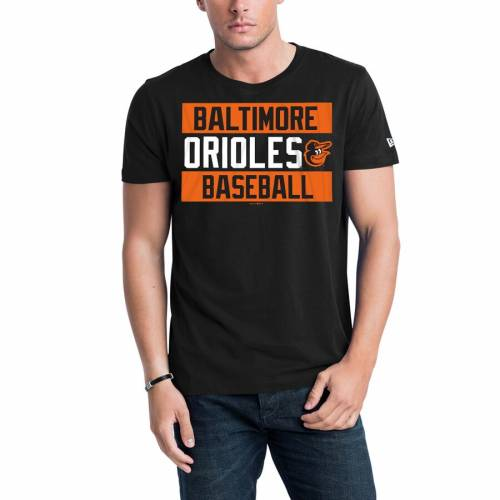 ニューエラ NEW ERA ボルティモア オリオールズ ジャージ Tシャツ 黒 ブラック メンズファッション トップス カットソー メンズ 【 Baltimore Orioles Bars Jersey T-shirt - Black 】 Black