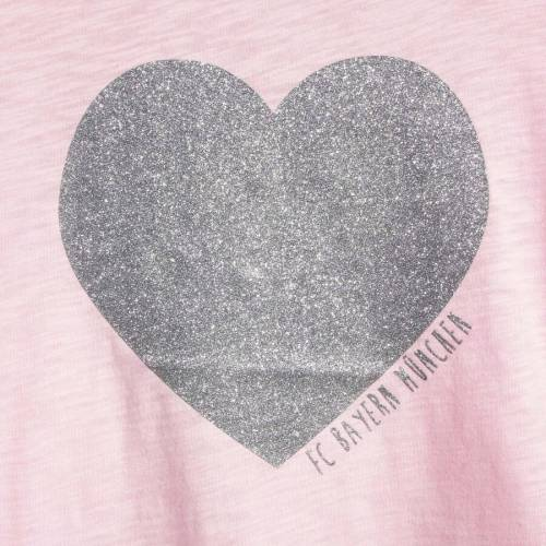 FC BAYERN M・・NCHEN AG 子供用 スリーブ Tシャツ ピンク キッズ ベビー マタニティ トップス ジュニア 【 Bayern Munich Girls Youth Heart Long Sleeve T-shirt - Pink 】 Pink
