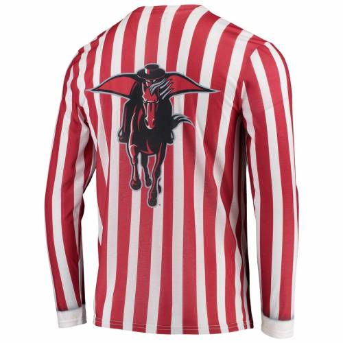 FAUX REAL テキサス テック 赤 レッド レイダース スリーブ Tシャツ メンズファッション トップス カットソー メンズ 【 Texas Tech Red Raiders Suit Long Sleeve T-shirt - Red 】 Red