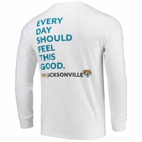 VINEYARD VINES ジャクソンビル ジャガース Tシャツ 白 ホワイト メンズファッション トップス カットソー メンズ 【 Jacksonville Jaguars Every Day Should Feel This Good T-shirt - White 】 White