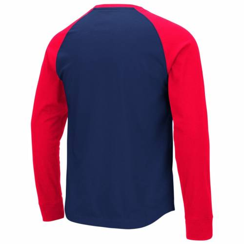 COLOSSEUM アリゾナ スリーブ Tシャツ 【 SLEEVE ARIZONA WILDCATS LONG TSHIRT NAVY RED 】 メンズファッション トップス カットソー 送料無料