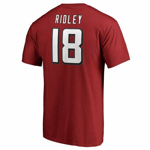 NFL PRO LINE BY FANATICS BRANDED プロ アトランタ ファルコンズ オーセンティック Tシャツ 赤 レッド & 【 NFL RED PRO LINE BY FANATICS BRANDED CALVIN RIDLEY ATLANTA FALCONS PLAYER AUTHENTIC STACK NAME NUMBER TSHIRT 】