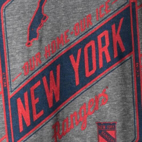 CCM レンジャーズ Tシャツ 灰色 グレー グレイ メンズファッション トップス カットソー メンズ 【 New York Rangers Our Home Our Ice Tri-blend T-shirt - Gray 】 Gray