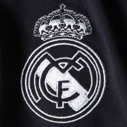 アディダス ADIDAS Tシャツ 【 REAL MADRID THREESTRIPE SHOULDER TSHIRT BLACK WHITE 】 メンズファッション トップス カットソー 送料無料