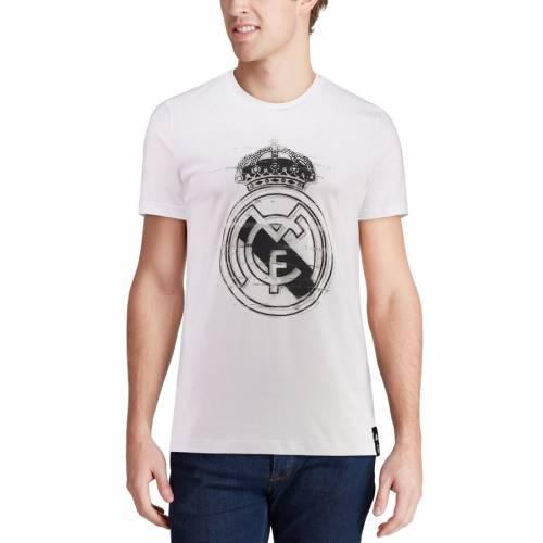 アディダス ADIDAS Tシャツ 白 ホワイト 【 WHITE ADIDAS REAL MADRID DNA TSHIRT 】 メンズファッション トップス Tシャツ カットソー