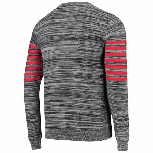 FOCO アトランタ ファルコンズ ニット ヘンリー スリーブ Tシャツ 灰色 グレー グレイ メンズファッション トップス カットソー メンズ 【 Atlanta Falcons Marled Knit Henley Long Sleeve T-shirt - Gray