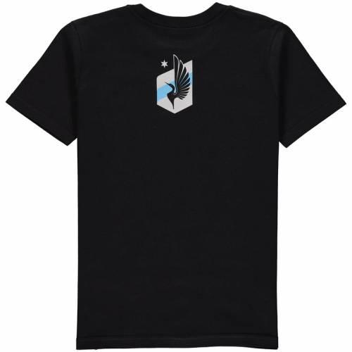 アディダス ADIDAS ミネソタ 子供用 エレメント Tシャツ 黒 ブラック キッズ ベビー マタニティ トップス ジュニア 【 Minnesota United Fc Youth Element T-shirt - Black 】 Black