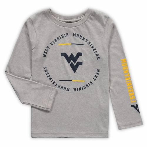 OUTERSTUFF バージニア 男の子 女の子 子供用 クラブ スリーブ Tシャツ 灰色 グレー グレイ キッズ ベビー マタニティ トップス ジュニア 【 West Virginia Mountaineers Preschool Club Short Sleeve And Long S