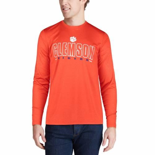 COLOSSEUM タイガース パフォーマンス スリーブ Tシャツ 橙 オレンジ メンズファッション トップス カットソー メンズ 【 Clemson Tigers Luge Performance Long Sleeve T-shirt - Orange 】 Orange