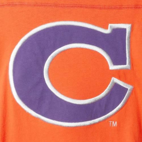 スターター STARTER タイガース フィールド ジャージ スリーブ Tシャツ メンズファッション トップス カットソー メンズ 【 Clemson Tigers Field Jersey Long Sleeve T-shirt - Orange/purple 】 Orange/purple