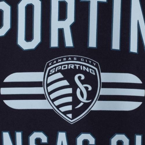 アディダス ADIDAS カンザス シティ 子供用 Tシャツ 紺 ネイビー キッズ ベビー マタニティ トップス ジュニア 【 Sporting Kansas City Youth Sprint Climalite T-shirt - Navy 】 Navy