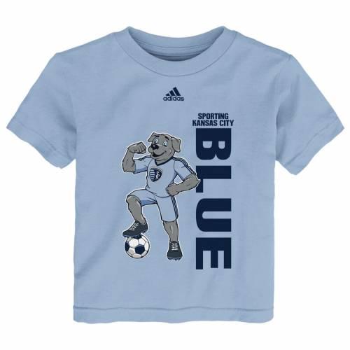 アディダス ADIDAS カンザス シティ 子供用 Tシャツ スカイ 青 ブルー キッズ ベビー マタニティ トップス ジュニア 【 Sporting Kansas City Youth Mascot Pride T-shirt - Sky Blue 】 Sky Blue