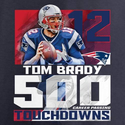 NFL PRO LINE BY FANATICS BRANDED ペイトリオッツ 子供用 Tシャツ 紺 ネイビー キッズ ベビー マタニティ トップス ジュニア 【 Tom Brady New England Patriots Youth 500 Career Passing Touchdowns T-shirt - Navy 】 Nav