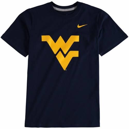 ナイキ NIKE バージニア 子供用 ロゴ Tシャツ 紺 ネイビー キッズ ベビー マタニティ トップス ジュニア 【 West Virginia Mountaineers Youth Cotton Logo T-shirt - Navy 】 Navy