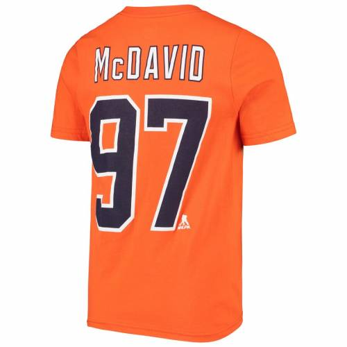 OUTERSTUFF マクダビッド 子供用 Tシャツ 橙 オレンジ キッズ ベビー マタニティ トップス ジュニア 【 Connor Mcdavid Edmonton Oilers Youth Player Name And Number T-shirt - Orange 】 Orange