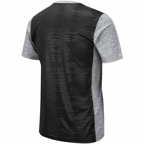 COLOSSEUM ライバル Tシャツ 【 IOWA HAWKEYES BART RIVAL TSHIRT HEATHERED GRAY 】 メンズファッション トップス カットソー 送料無料