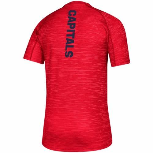 アディダス ADIDAS ワシントン ゲーム トレーニング Tシャツ 赤 レッド メンズファッション トップス カットソー メンズ 【 Washington Capitals Game Mode Training T-shirt - Red 】 Red