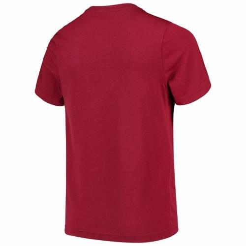 ナイキ NIKE 子供用 ロゴ パフォーマンス Tシャツ 赤 カーディナル キッズ ベビー マタニティ トップス ジュニア 【 Arkansas Razorbacks Youth Football And Logo Performance T-shirt - Cardinal 】 Cardinal