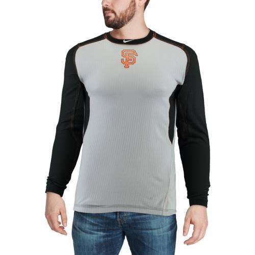 ナイキ NIKE ジャイアンツ オーセンティック コレクション ゲーム スリーブ Tシャツ メンズファッション トップス カットソー メンズ 【 San Francisco Giants Authentic Collection Game Long Sleeve T-shir