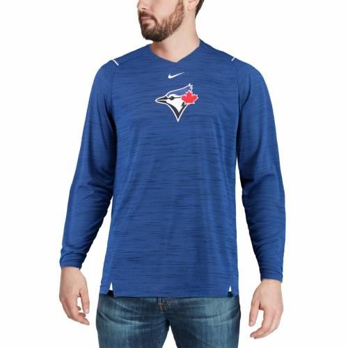 ナイキ NIKE トロント 青 ブルー スリーブ パフォーマンス Tシャツ メンズファッション トップス カットソー メンズ 【 Toronto Blue Jays Ac Breathe Long Sleeve Performance T-shirt - Royal 】 Royal