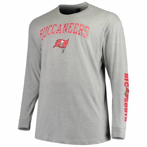 マジェスティック MAJESTIC バッカニアーズ Tシャツ 灰色 グレー グレイ メンズファッション トップス カットソー メンズ 【 Tampa Bay Buccaneers Big And Tall T-shirt Combo Set - Red/heathered Gray 】 Red/he