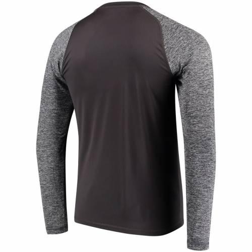 NFL PRO LINE BY FANATICS BRANDED レイダース スリーブ Tシャツ メンズファッション トップス カットソー メンズ 【 Las Vegas Raiders Static Synthetic Long Sleeve T-shirt - Black/charcoal 】 Black/charcoal