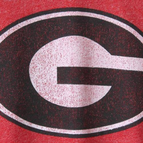 KNIGHTS APPAREL チャンピオン Tシャツ 赤 レッド メンズファッション トップス カットソー メンズ 【 Georgia Bulldogs Champion Spike Color Block T-shirt - Heathered Red 】 Heathered Red