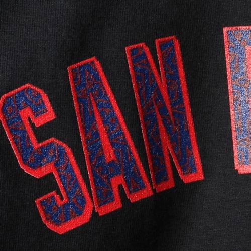 マジェスティック MAJESTIC ジャイアンツ Tシャツ & 【 BUSTER POSEY SAN FRANCISCO GIANTS STARS STRIPES NAME AND NUMBER TSHIRT BLACK 】 メンズファッション トップス カットソー 送料無料