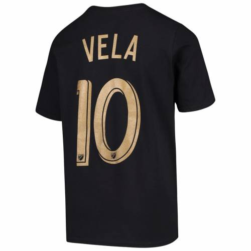 OUTERSTUFF 子供用 Tシャツ 黒 ブラック キッズ ベビー マタニティ トップス ジュニア 【 Carlos Vela Lafc Youth Name And Number T-shirt - Black 】 Black