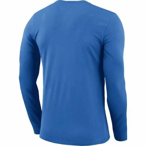 ナイキ NIKE シティ サンダー プラクティス スリーブ パフォーマンス Tシャツ 青 ブルー 【 SLEEVE BLUE NIKE OKLAHOMA CITY THUNDER PRACTICE LONG PERFORMANCE TSHIRT 】 メンズファッション トップス Tシャツ