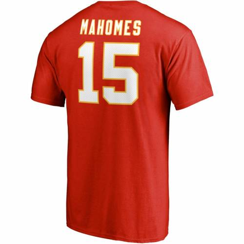 NFL PRO LINE BY FANATICS BRANDED カンザス シティ チーフス プロ アイコン Tシャツ & 【 PATRICK MAHOMES KANSAS CITY CHIEFS ICON NAME NUMBER TSHIRT RED 】 メンズファッション トップス カットソー 送料無料
