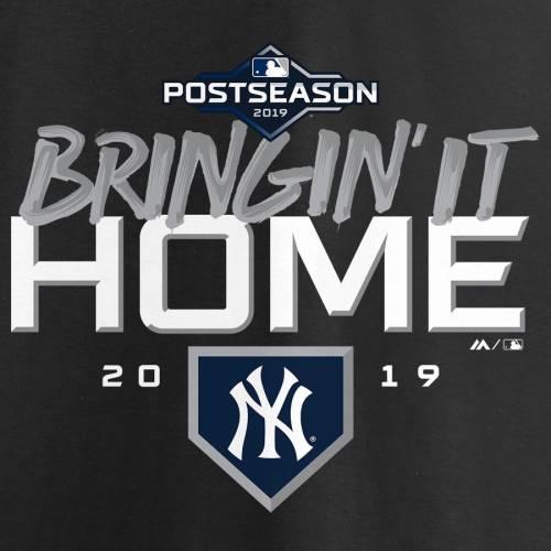 マジェスティック MAJESTIC ヤンキース シリーズ Tシャツ 黒 ブラック メンズファッション トップス カットソー メンズ 【 New York Yankees 2019 Division Series Winner Locker Room Big And Tall T-shirt - Black