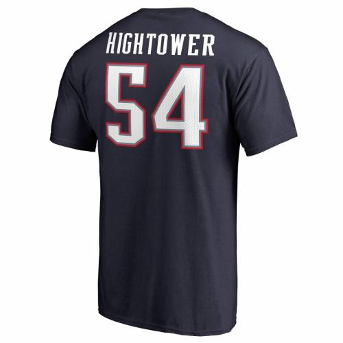 NFL PRO LINE BY FANATICS BRANDED ペイトリオッツ プロ チーム オーセンティック Tシャツ DONT'A & 【 TEAM HIGHTOWER NEW ENGLAND PATRIOTS AUTHENTIC STACK NAME NUMBER TSHIRT NAVY 】 メンズファッション トップス カ