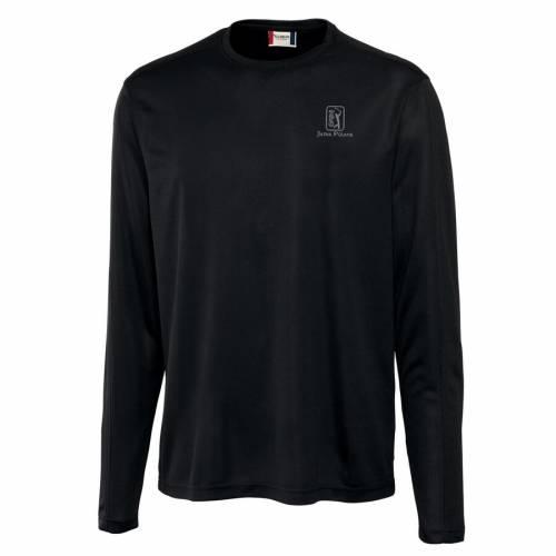 CUTTER & BUCK スリーブ Tシャツ 黒 ブラック & 【 SLEEVE BLACK CUTTER BUCK TPC JASNA POLANA ICE LONG TSHIRT 】 メンズファッション トップス Tシャツ カットソー