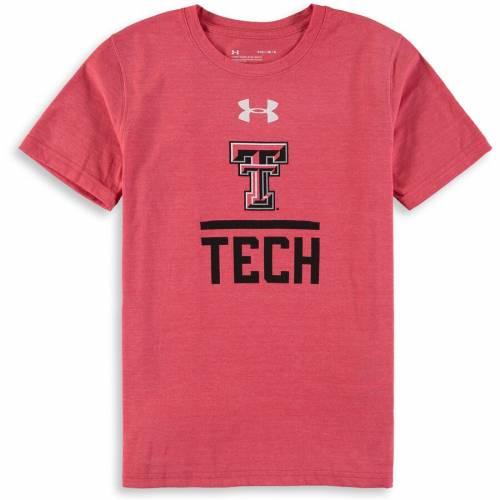 アンダーアーマー UNDER ARMOUR テキサス テック 赤 レッド レイダース 子供用 Tシャツ キッズ ベビー マタニティ トップス ジュニア 【 Texas Tech Red Raiders Youth Tri-blend T-shirt - Red 】 Red