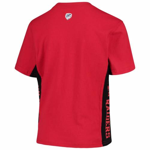 HANDS HIGH テキサス テック 赤 レッド レイダース 子供用 Tシャツ キッズ ベビー マタニティ トップス ジュニア 【 Texas Tech Red Raiders Youth Side Bar T-shirt - Red/black 】 Red/black