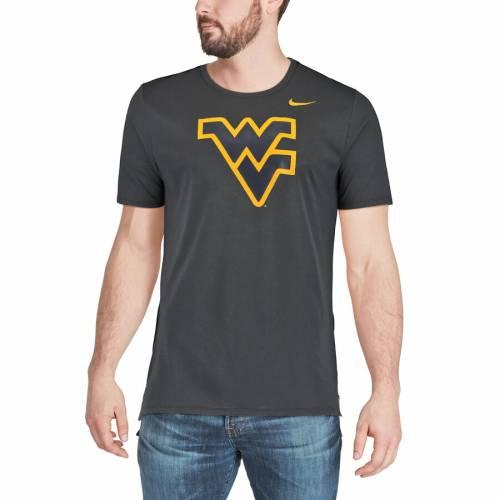 ナイキ NIKE バージニア パフォーマンス Tシャツ メンズファッション トップス カットソー メンズ 【 West Virginia Mountaineers Travel Meshback Performance T-shirt - Anthracite 】 Anthracite