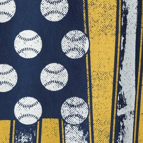 IMAGE ONE バージニア ベースボール Tシャツ 【 WEST VIRGINIA MOUNTAINEERS BASEBALL FLAG COMFORT COLORS TSHIRT NAVY 】 メンズファッション トップス カットソー 送料無料