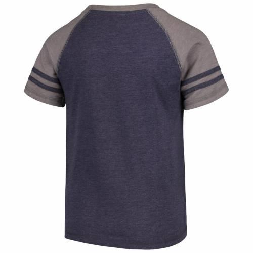 NFL PRO LINE BY FANATICS BRANDED デンバー ブロンコス 子供用 ラグラン Tシャツ 灰色 グレー グレイ キッズ ベビー マタニティ トップス ジュニア 【 Denver Broncos Youth First String 2-stripe Raglan T-shirt -