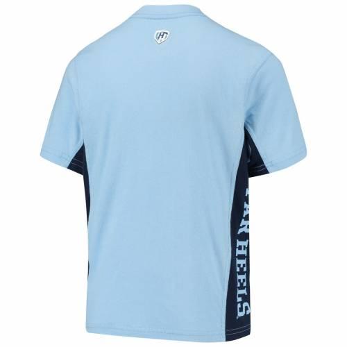 HANDS HIGH ノース カロライナ 子供用 Tシャツ キッズ ベビー マタニティ トップス ジュニア 【 North Carolina Tar Heels Youth Side Bar T-shirt - Carolina Blue/navy 】 Carolina Blue/navy