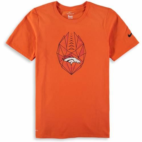 ナイキ NIKE デンバー ブロンコス 子供用 アイコン パフォーマンス Tシャツ 橙 オレンジ キッズ ベビー マタニティ トップス ジュニア 【 Denver Broncos Youth Football Icon Performance T-shirt - Orange
