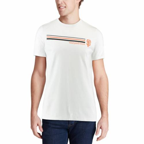 VINEYARD VINES ジャイアンツ ストライプ Tシャツ 白 ホワイト 【 STRIPE WHITE VINEYARD VINES SAN FRANCISCO GIANTS THREE TSHIRT 】 メンズファッション トップス Tシャツ カットソー