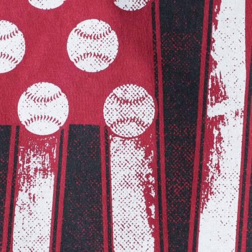 IMAGE ONE ベースボール Tシャツ 赤 カーディナル 【 IMAGE ONE ARKANSAS RAZORBACKS BASEBALL FLAG COMFORT COLORS TSHIRT CARDINAL 】 メンズファッション トップス Tシャツ カットソー
