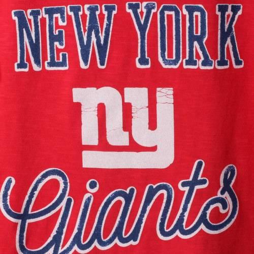 JUNK FOOD ジャイアンツ 子供用 スクリプト Tシャツ 赤 レッド キッズ ベビー マタニティ トップス ジュニア 【 New York Giants Girls Youth Script T-shirt - Red 】 Red