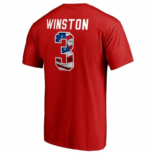 NFL PRO LINE BY FANATICS BRANDED プロ バッカニアーズ ウェーブ ウェイブ Tシャツ 赤 レッド & 【 NFL WAVE RED PRO LINE BY FANATICS BRANDED JAMEIS WINSTON TAMPA BAY BUCCANEERS BANNER NAME NUMBER TSHIRT 】 メンズファ