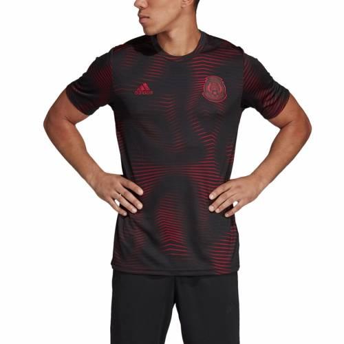 アディダス ADIDAS チーム トレーニング Tシャツ 黒 ブラック メンズファッション トップス カットソー メンズ 【 Mexico National Team 2019 Pre-match Climalite Training T-shirt - Black 】 Black