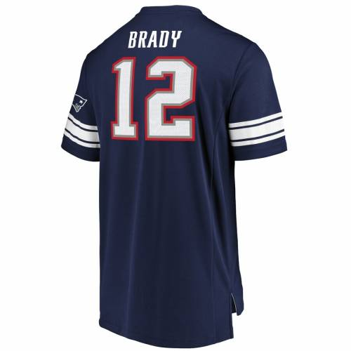 NFL PRO LINE BY FANATICS BRANDED ペイトリオッツ マジェスティック Tシャツ 紺 ネイビー メンズファッション トップス カットソー メンズ 【 Tom Brady New England Patriots Majestic Hashmark Player Name And Numbe
