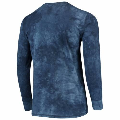 CONCEPTS SPORT ペイトリオッツ ヘンリー スリーブ Tシャツ 紺 ネイビー メンズファッション トップス カットソー メンズ 【 New England Patriots Altar Tie-dye Henley Long Sleeve T-shirt - Navy 】 Navy